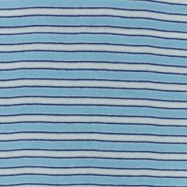Tissu jersey tubulaire Fréjus - bleu x 10cm