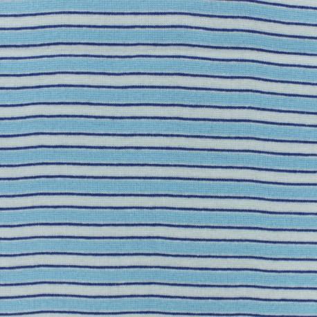 Tubular Jersey fabric - blue Fréjus x 10 cm