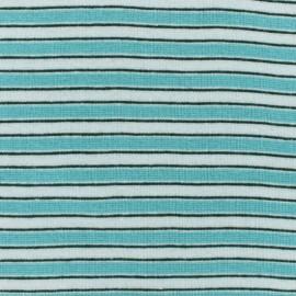 Tubular Jersey fabric - green Fréjus x 10 cm