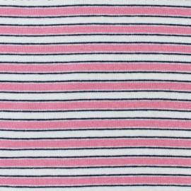 Tissu jersey tubulaire Fréjus - rose x 10cm