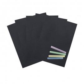 A4 Chalkboard Sticker Sheet (5 Pack)