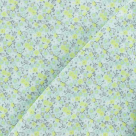 Flannel Fabric - Light green Petite Fleur x 10cm