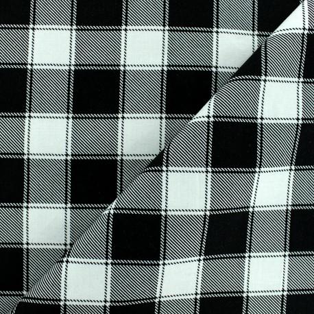 Tissu coton à carreaux Janis - noir/blanc x 10cm