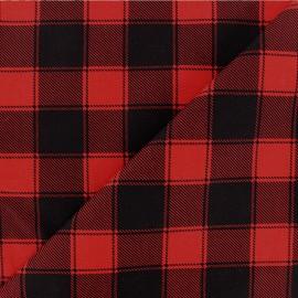 Tissu coton à carreaux Janis - noir/blanc cassé x 10cm