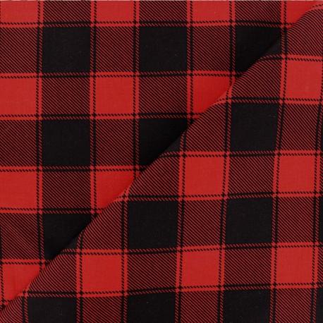 Checked Cotton fabric - Black/cream Janis x 10cm
