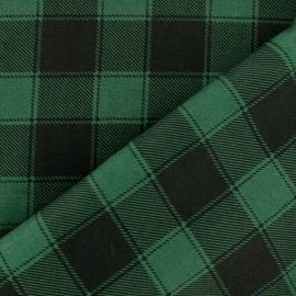 Tissu coton à carreaux Janis - noir/vert x 10cm