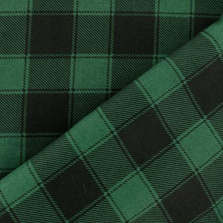 Tissu coton à carreaux Janis - noir/rouge x 10cm