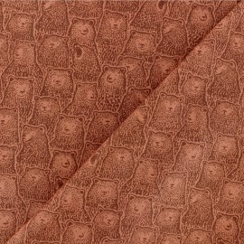 Dear Stella Poplin fabric - Rust Roaring Bear x 10cm