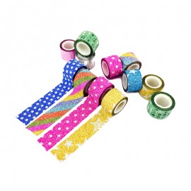 Mini Decorative Tape (100 Pack) - Glitter