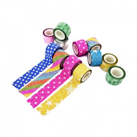Mini Decorative Tape (100 Pack) - Glitter