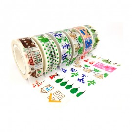 Masking Tape à Motif (Pack de 6) - Nature