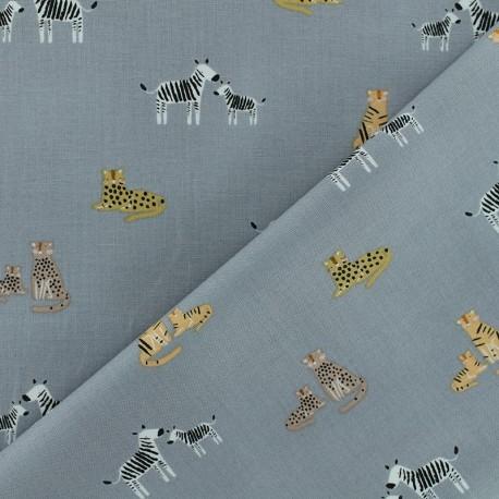 Born to be wild - Dear Stella Poplin fabric - white Giraffe x 10cm