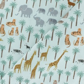 Tissu Popeline Dear Stella Born to be wild Safari - vert x 10cm