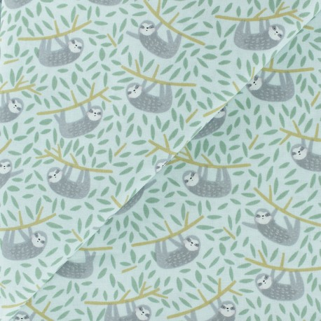 Born to be wild - Dear Stella Poplin fabric - mint Safari x 10cm