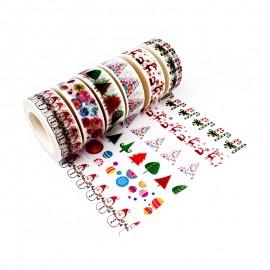 Masking Tape à Motif (Pack de 6) - Noël