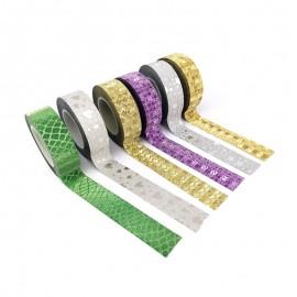 Masking Tape à Motif (Pack de 6) - Glitter Déco
