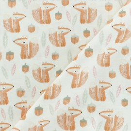 Timeless Treasures Poplin fabric - Sweet Woodland - All over fox x 10cm