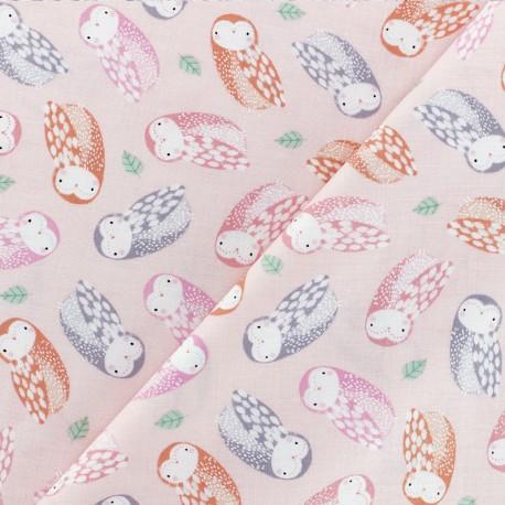 Dear Stella Poplin fabric - Sweet Woodland - blush pink Animals x 10cm