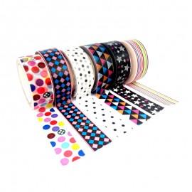 Masking Tape à Motif (Pack de 6) - Géométrica
