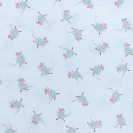 Dear Stella Poplin fabric - On Pointe - Nutcracker Mice x 10cm