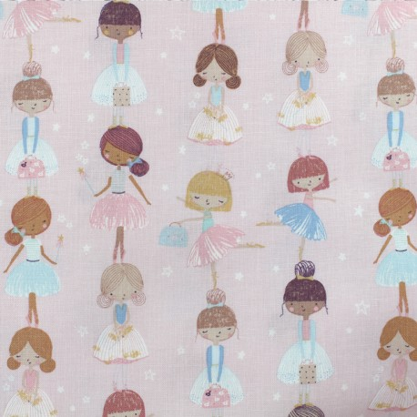 Dear Stella Poplin fabric - On Pointe - Ballerinas x 10cm