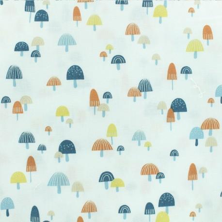 Tissu Popeline Dear Stella - Mushroom - blanc x 10cm