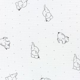 Double gauze Cotton fabric - Pure white Lidingo x 10cm