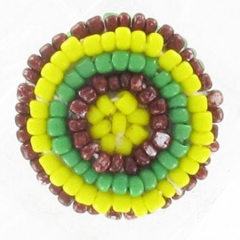 Bouton perles jaunes
