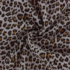 Double cotton gauze fabric - Baby rose Leopard x 10cm