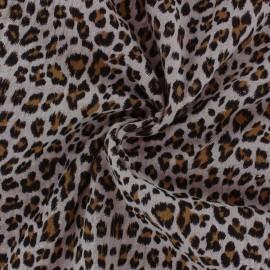 Tissu double gaze de coton Léopard - baby rose x 10cm