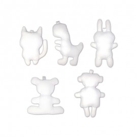 Mini Stuffed Animal to Personalize (10 Pack) - White