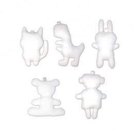 Mini Stuffed Animal to Personalize (10 Pack) - White