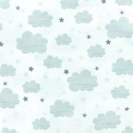 Tissu coton Timeless Treasures - Nuage - blanc x 10cm