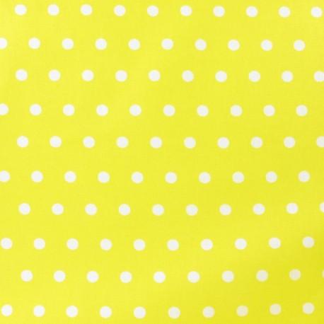 Tissu enduit coton petits pois blancs fond jaune x 10cm - Quand semer les petit pois ...