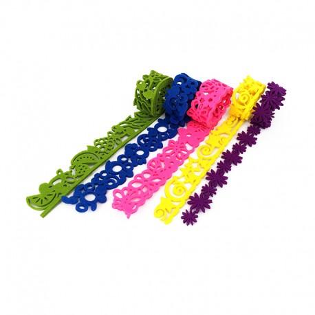 Ruban de Feutrine 50 cm (5 pièces) - Colorful Life