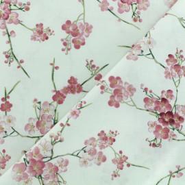 Tissu coton Timeless Treasures - Cerisiers - écru x 10cm