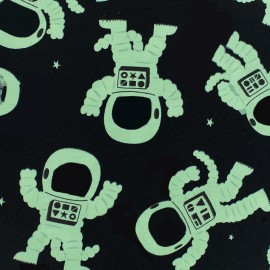 Tissu coton Phosphorescent - Astrocat - noir x 10cm