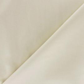Tissu Popeline vanille x10cm