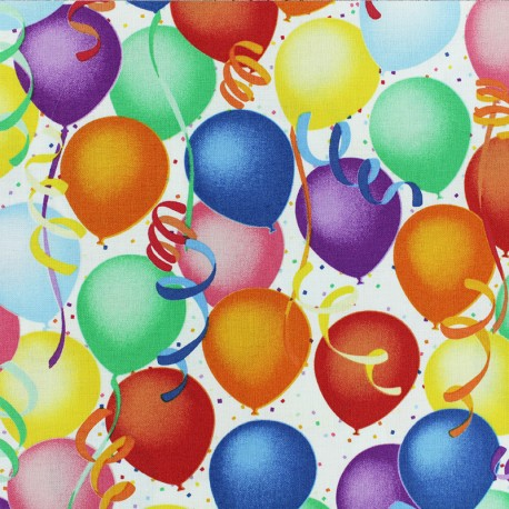 Hoffman cotton fabrics - Multi balloons x 10cm