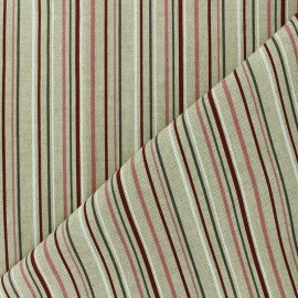 Polycotton fabric - natural Romantic stripes x 10cm