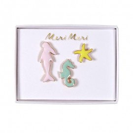 Meri Meri Enamel Pins - Under the Sea