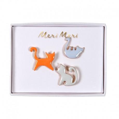 Meri Meri Enamel Pins - Cat