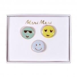 Meri Meri Enamel Pins - Emoji