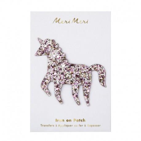 Meri Meri Iron On Patch - Glitter Unicorn