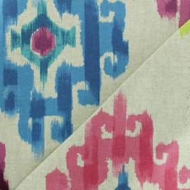 Polycotton fabric - Fire/Natural Aztec x 30cm