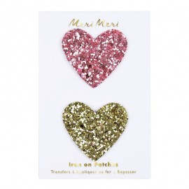 Meri Meri Iron On Patch - Glitter Heart