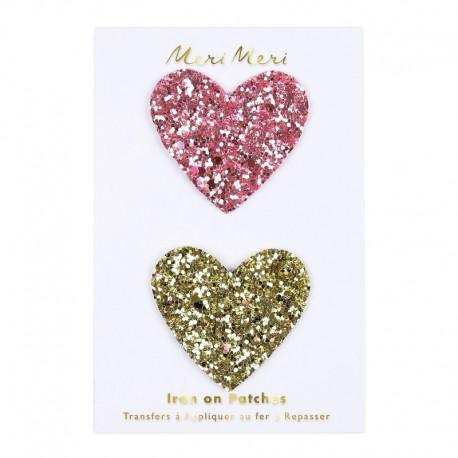 Meri Meri Iron On Patch - Glitter Heart