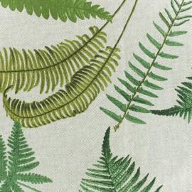 Tissu polycoton Fougère - naturel x 30cm