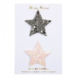 Meri Meri Iron On Patch - Glitter Star