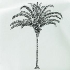 Polycotton fabric - Natural Botanic palm tree x 20cm